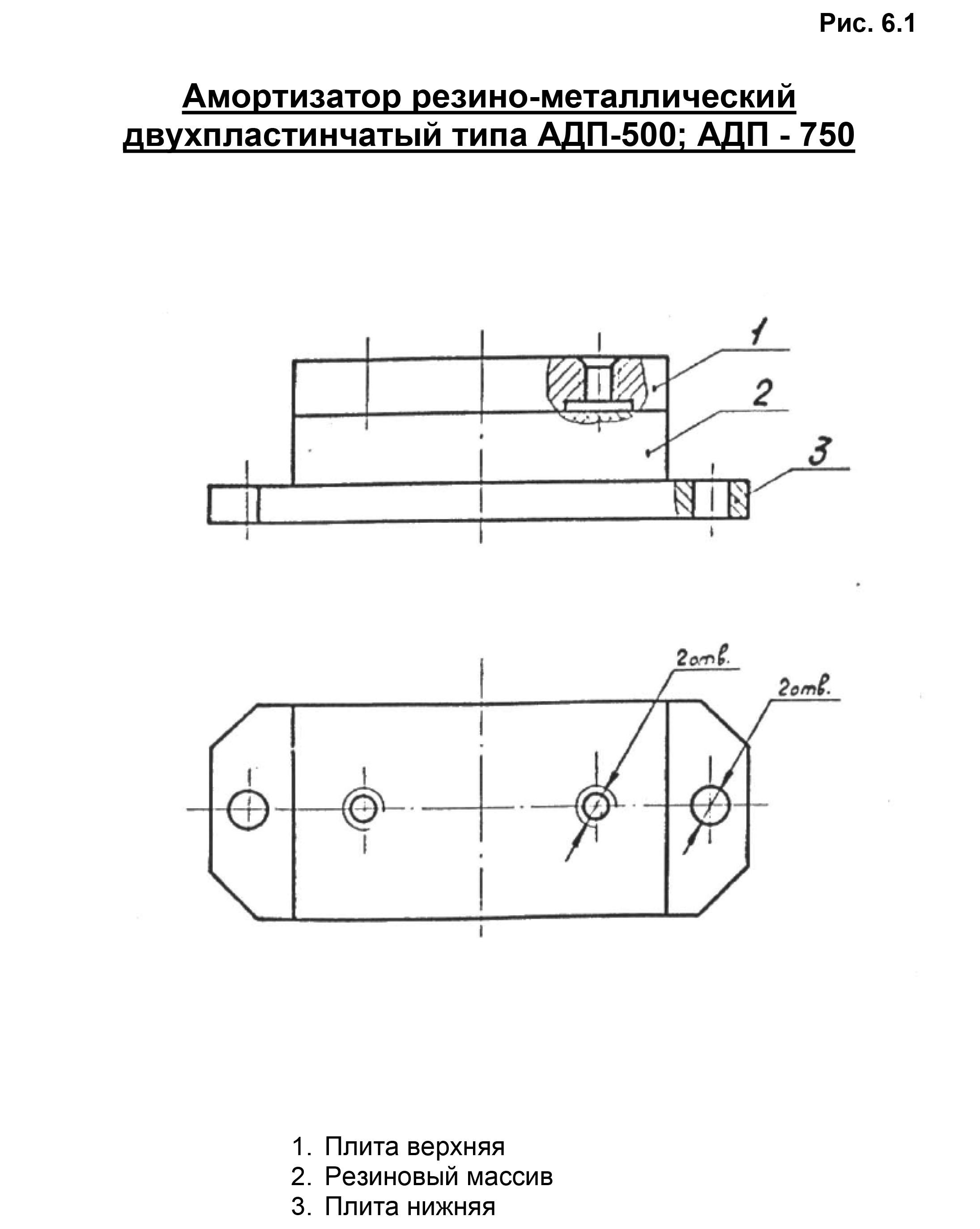 Амортизатор АДП-500  АДП-750