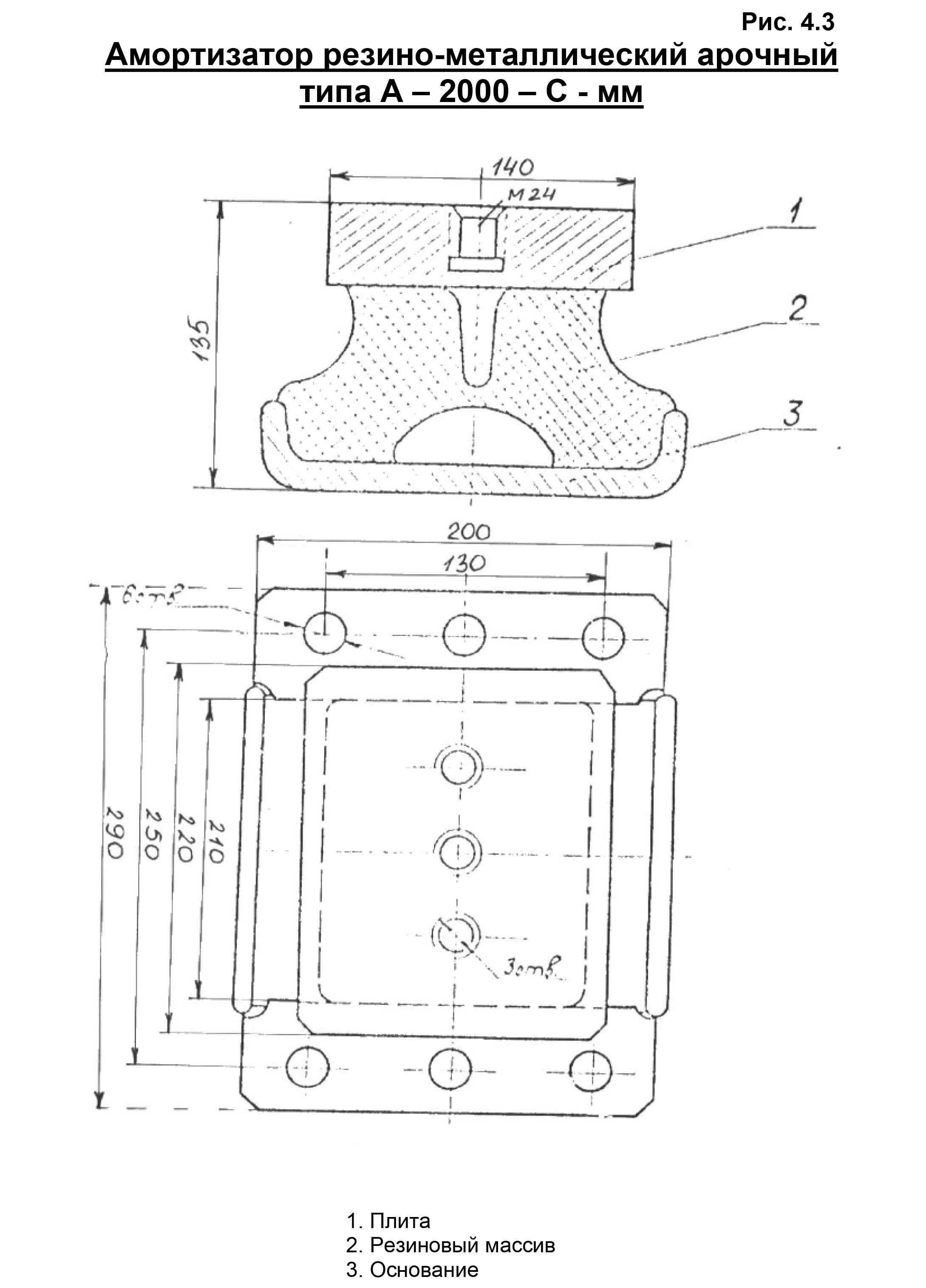Амортизатор арочного типа А-2000