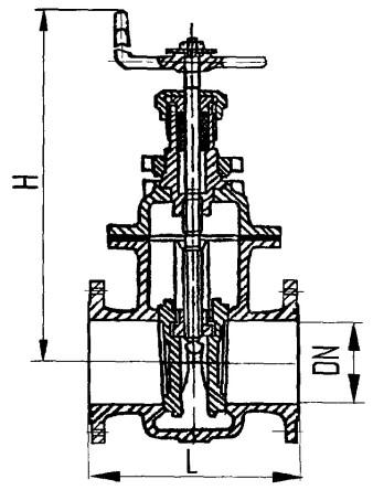 Задвижка клинк фланц двухдиск