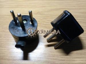 Ш1 Вилка штепсельная 6А, 250В, ТУ5.688-5121-82 L