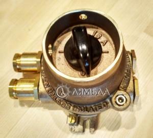 Выключатель судовой 14105-2 690V 16A IP56, EEx de IIC T6 , латунь, взрывозащищенный L