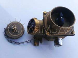 РШМВ-Л-36-2-1-14-1-67 Розетка судовая штепсельная с выключателем L